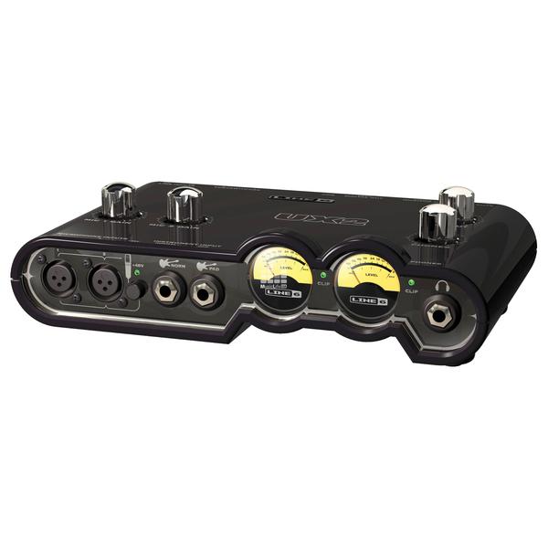 Внешняя студийная звуковая карта Line 6 Pod Studio UX2 предупреждающие индикаторы 6