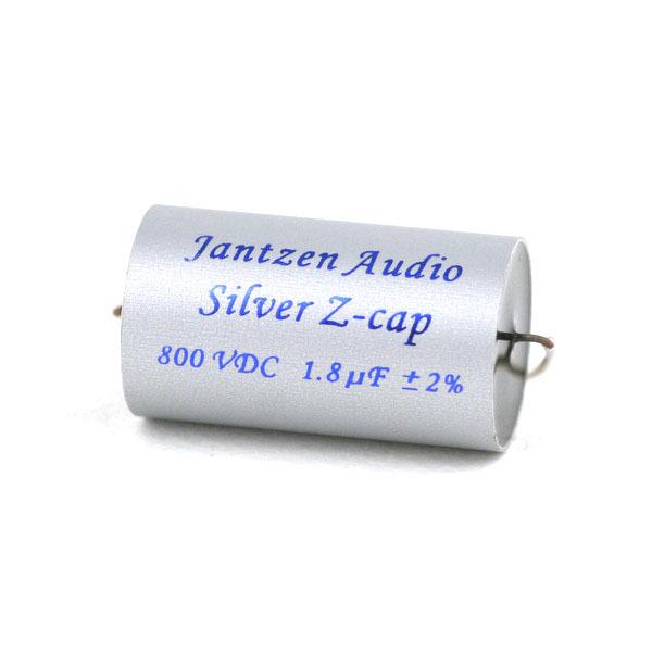 Конденсатор Jantzen MKP Silver Z-Cap 800 VDC 2% 1.8 uF mz carbon fiber texture aluminum alloy motorcycle handlebar cap handle plug silver 2 pcs