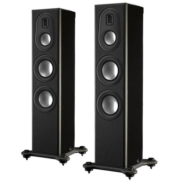 Напольная акустика Monitor Audio Platinum PL200 II Black Gloss стойка для акустики monitor audio platinum pl100 ii stand