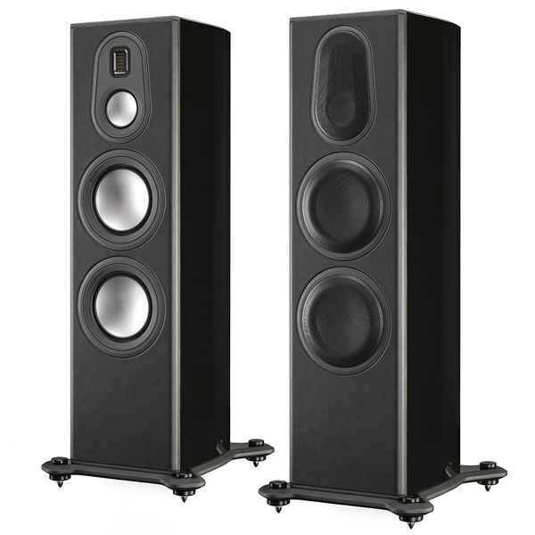 Напольная акустика Monitor Audio Platinum PL300 II Black Gloss активный сабвуфер monitor audio platinum plw215 ii black gloss