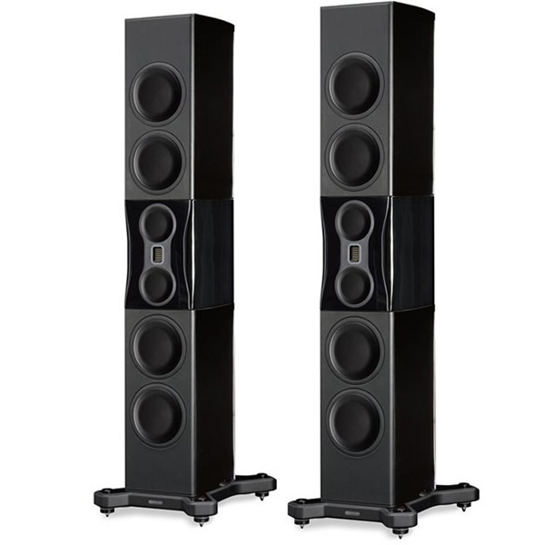 Напольная акустика Monitor Audio Platinum PL500 II Black Gloss стойка для акустики monitor audio platinum pl100 ii stand