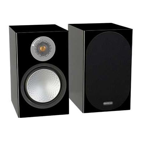 Полочная акустика Monitor Audio Silver 100 Black Gloss настенная акустика monitor audio radius 225 high gloss black