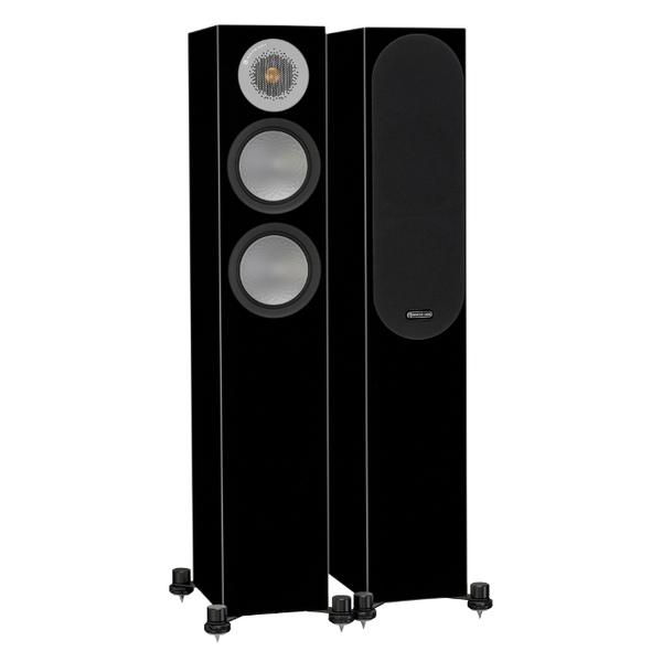 Напольная акустика Monitor Audio Silver 200 Black Gloss напольная акустика monitor audio platinum pl500 ii black gloss
