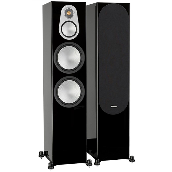 саундбар monitor audio sb 4 black Напольная акустика Monitor Audio Silver 500 Black Gloss