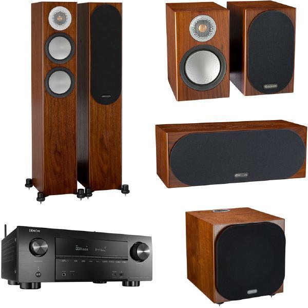 Комплект домашнего кинотеатра Monitor Audio Silver N3 Walnut + Denon AVR-X3600H Black