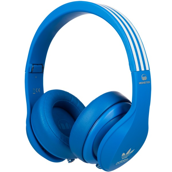 Охватывающие наушники Monster Adidas Originals Over Ear Headphones Blue monster monster dna on ear headphones carbon black