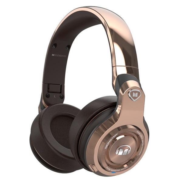 Беспроводные наушники Monster Elements Wireless Over-Ear Rose Gold гарнитура yison d7 gold