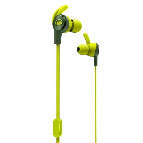 Внутриканальные наушники Monster iSport Achieve Green беспроводные наушники monster isport freedom wireless bluetooth on ear green