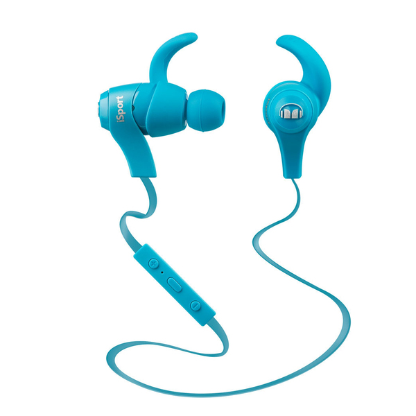 Беспроводные наушники Monster iSport Bluetooth Wireless In-Ear Headphones Blue wireless earbuds in ear bluetooth earphone waterproof true stereo sound with mic charge box jh