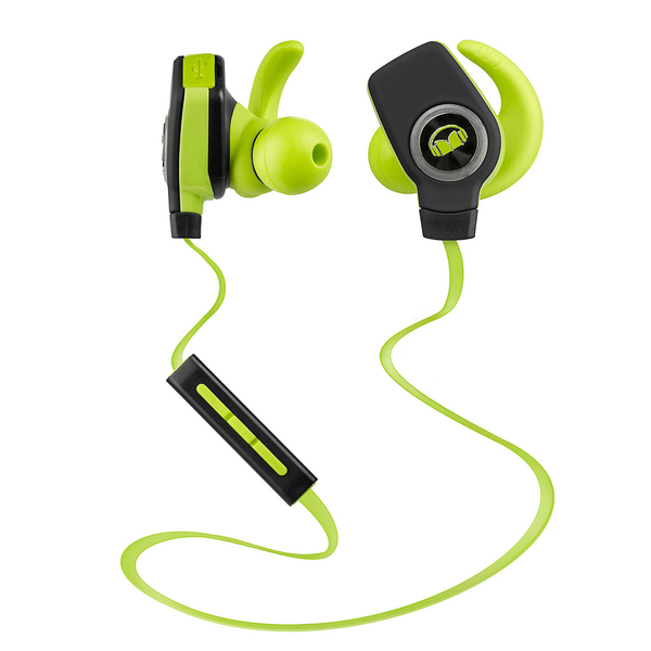 Беспроводные наушники Monster iSport Bluetooth Wireless SuperSlim In-Ear Green wireless earbuds in ear bluetooth earphone waterproof true stereo sound with mic charge box jh
