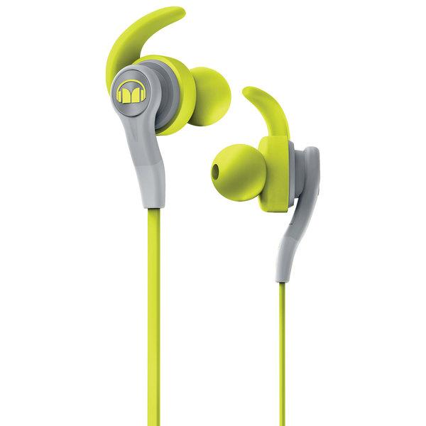 где купить Внутриканальные наушники Monster iSport Compete In-Ear Green дешево