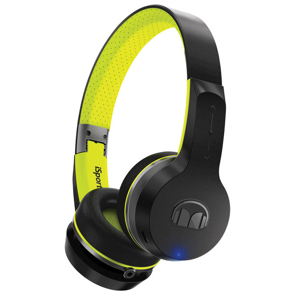 Беспроводные наушники Monster iSport Freedom Bluetooth On-Ear Black/Green беспроводные наушники monster isport freedom wireless bluetooth on ear green