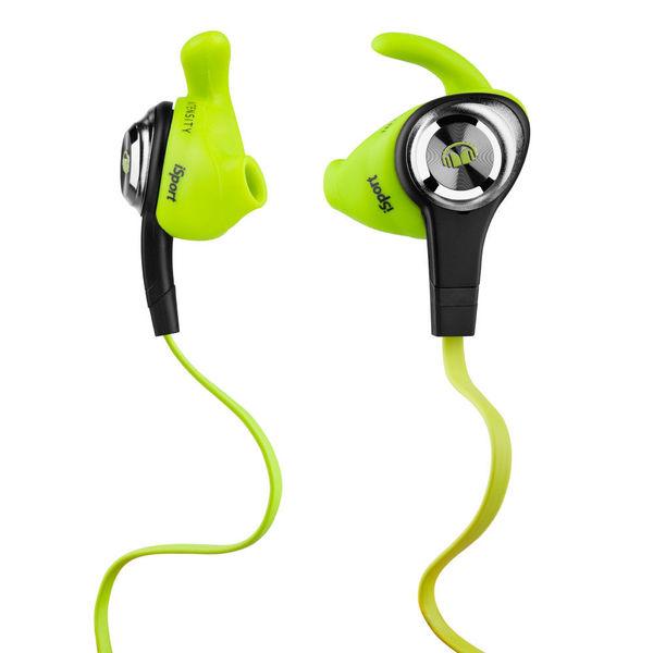 Внутриканальные наушники Monster iSport Intensity Green беспроводные наушники monster isport freedom wireless bluetooth on ear green