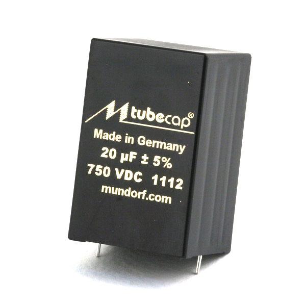 Конденсатор Mundorf Tubecap 750 VDC 20 uF конденсатор mundorf tubecap 1000 vdc 10 uf