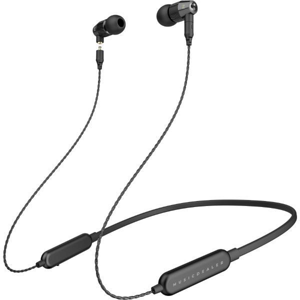 Беспроводные наушники MusicDealer S BT Black наушники harper hb 305 беспроводные внутриканальные с микрофоном черный 20 гц 20 кгц bluetooth micro usb