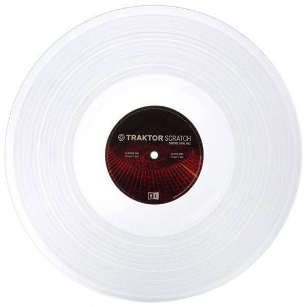 DJ виниловый проигрыватель Native Instruments Таймкод Traktor Scratch Pro Control Vinyl MK2 Clear