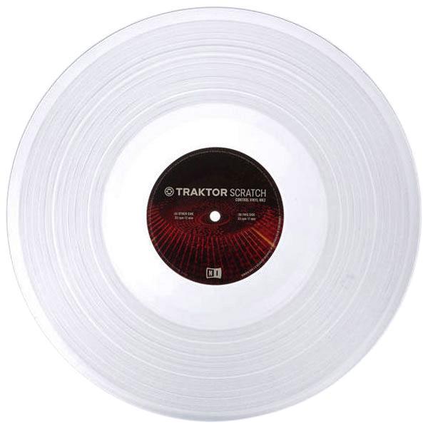 DJ виниловый проигрыватель Native Instruments Таймкод Traktor Scratch Pro Control Vinyl MK2 White