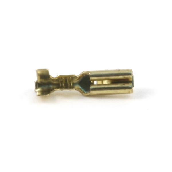Клемма ножевая не изолированная 2,8 с замком (латунь) bnc м клемма каркам