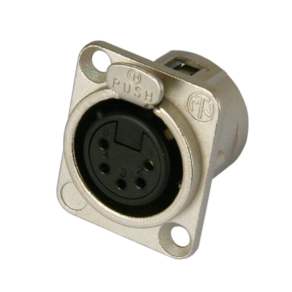 Терминал XLR Neutrik NC5FD-L-1 neutrik nac3mm 1