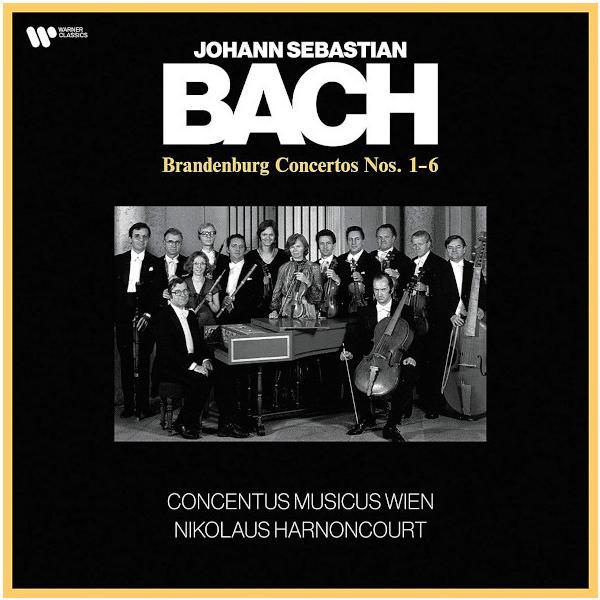 BACH BACHNikolaus Harnoncourt Concentus Musicus Wien - : The Brandenburg Concertos Nos. 1-6 (2 Lp, 180 Gr)