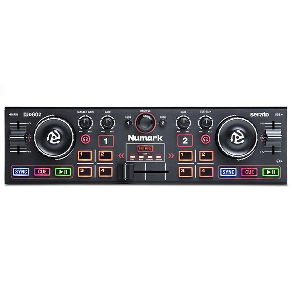 DJ контроллер Numark DJ2GO2 проигрыватель винила с ременным приводом numark pt 01 scratch