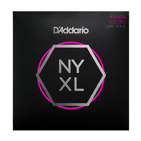 Гитарные струны D'Addario NYXL45100 (для бас-гитары) ernie ball extra light nickel wound струны для электрической гитары 10 50