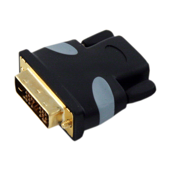Переходник Onetech VHD0102 HDMI - DVI-D greenconnection 20124 dvi d 24 1 male to hdmi female adapter black golden
