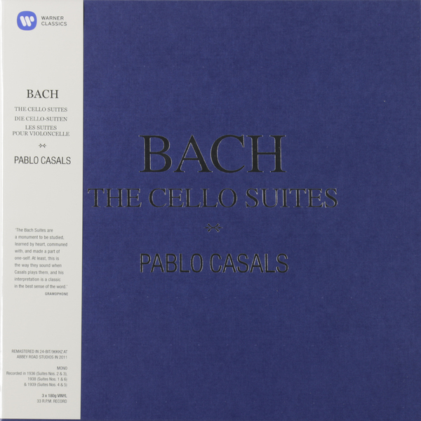 BACH BACHPablo Casals - : The Cello Suites (3 LP) тим хью хидэми судзуки bournemouth sinfonietta ричард студ c p e bach cello concertos wq 170 172