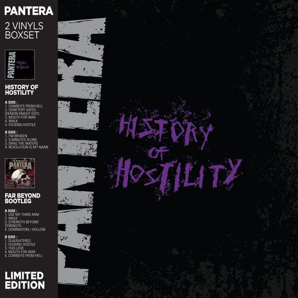 Pantera Pantera - History Of Hostility / Far Beyond: Live From Donington (2 LP) volbeat volbeat live from beyond hell above heaven 3 lp