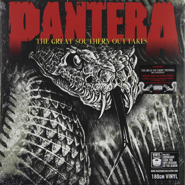 Pantera Pantera - The Great Southern Outtakes pantera pantera the great southern trendkill 2 lp 180 gr