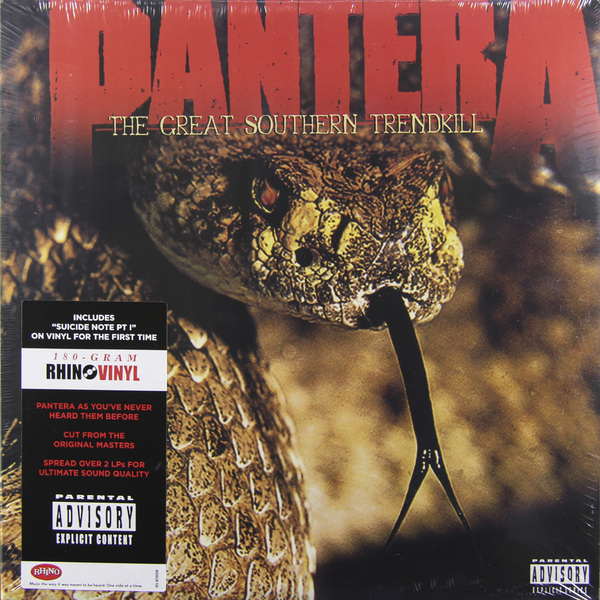 Pantera Pantera - The Great Southern Trendkill (2 Lp, 180 Gr) louis armstrong and duke ellington the great reunion lp