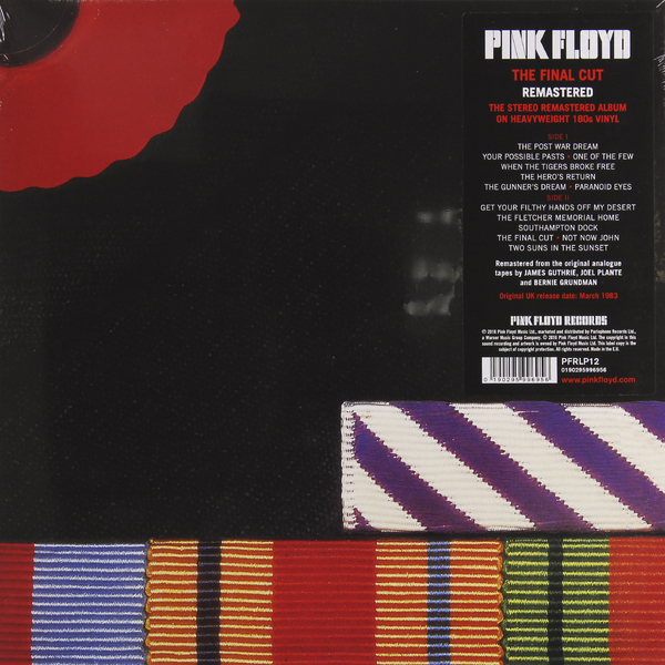 все цены на Pink Floyd Pink Floyd - The Final Cut (180 Gr)
