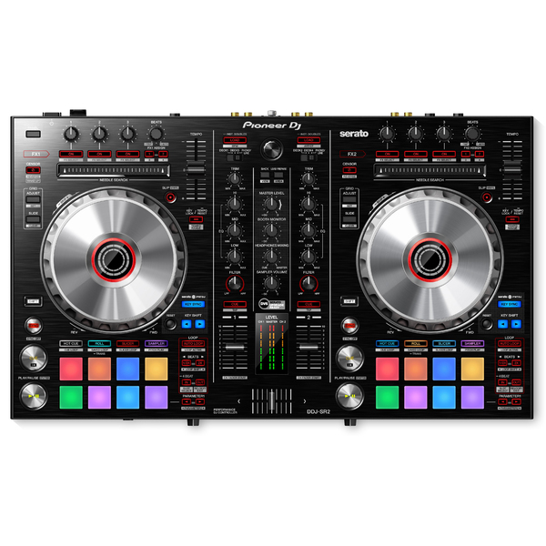 DJ контроллер Pioneer DDJ-SR2 freeshpping 8 unit 3 10w rgbw 4in1 freedom dj led par cans iron silver case dmx wash light pro dj lights 7 channels big lens