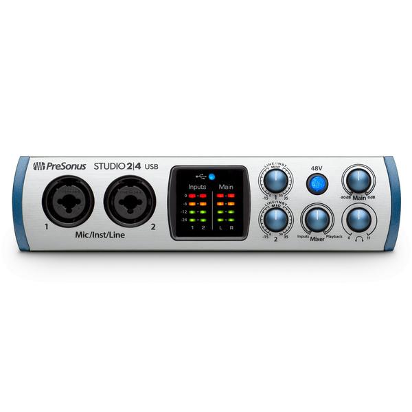 Внешняя студийная звуковая карта PreSonus Studio 24 звуковая карта внешняя antelope audio zen studio