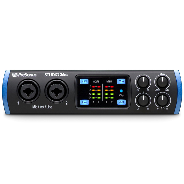 Аудиоинтерфейс PreSonus Studio 26C аудиоинтерфейс presonus audiobox usb 96 25th anniversary edition