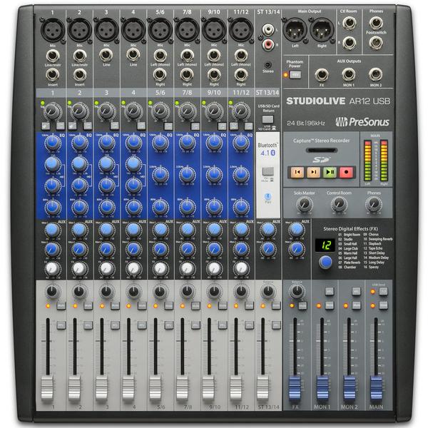 Аналоговый микшерный пульт PreSonus StudioLive AR12 USB аналоговый микшер presonus studiolive ar16 usb