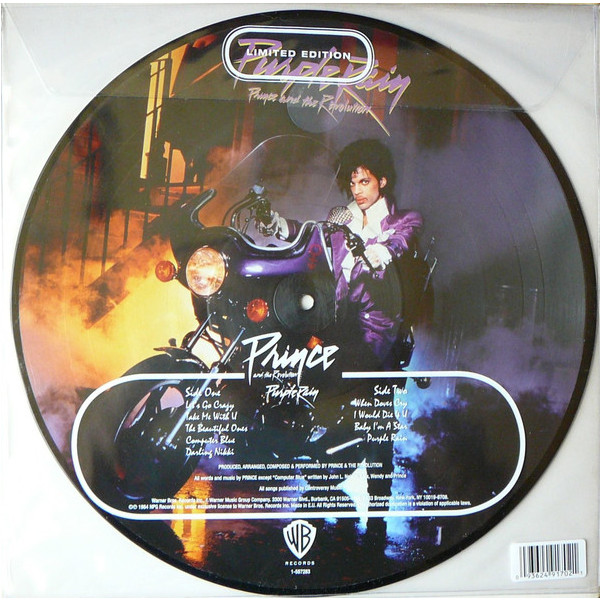 Prince Prince The Revolution - Purple Rain (picture Disc) майка борцовка print bar prince purple rain