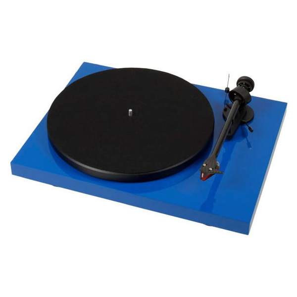 Виниловый проигрыватель Pro-Ject Debut Carbon DC Blue (2M-Red) pro ject debut carbon dc walnut 2m red