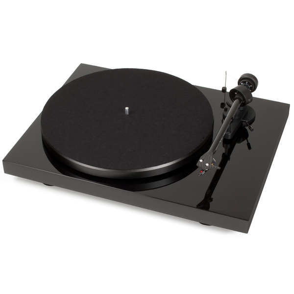 Виниловый проигрыватель Pro-Ject Debut Carbon DC Phono USB Piano Black (OM-10) виниловый проигрыватель pro ject debut carbon dc phono usb purple om 10
