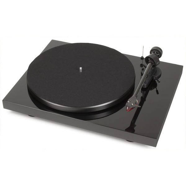 Виниловый проигрыватель Pro-Ject Debut Carbon DC Piano Black (2M-Red) (уценённый товар) виниловый проигрыватель pro ject debut carbon dc walnut 2m red