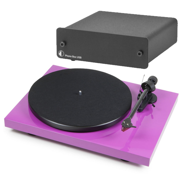 Виниловый проигрыватель Pro-Ject Debut Carbon DC Purple (2M-Red) +  Phono Box USB Black pro ject debut carbon dc piano black 2m red
