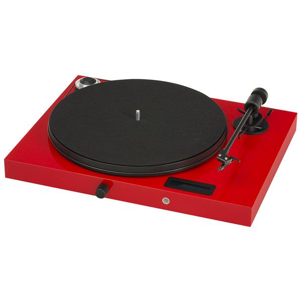Виниловый проигрыватель Pro-Ject Juke Box E Red (OM-5e) виниловый проигрыватель pro ject juke box e piano black om 5e