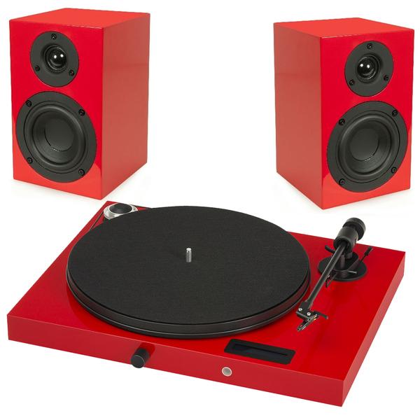 Виниловый проигрыватель Pro-Ject Juke Box E Red (OM-5e) +  Speaker Box 4 Red pro ject vt e r red om 5e