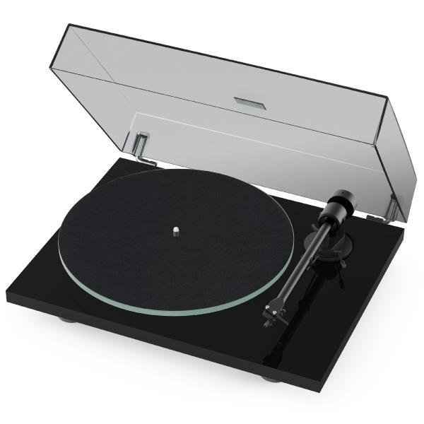 Виниловый проигрыватель Pro-Ject T1 BT Piano Black (OM-5e) (уценённый товар) виниловый проигрыватель pro ject juke box e piano black om 5e