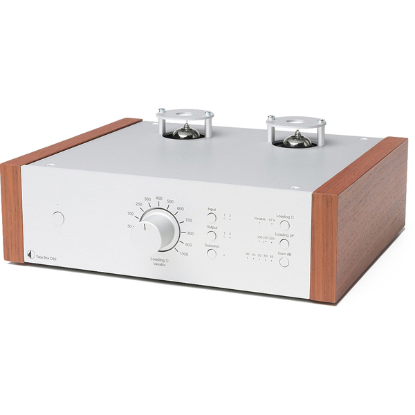 Ламповый фонокорректор Pro-Ject Tube Box DS2 Silver/Rosenut