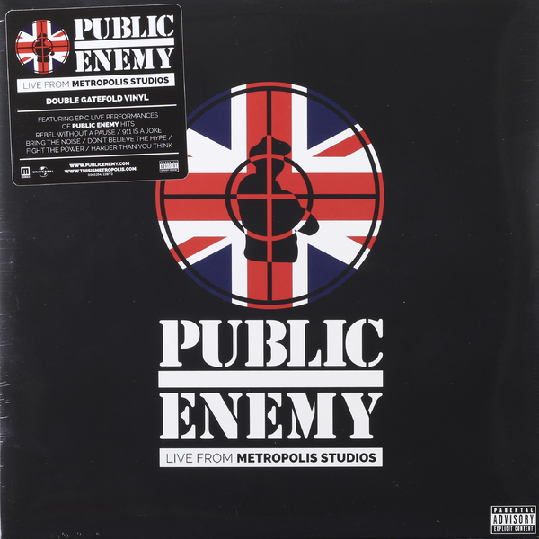 Public Enemy Public Enemy - Live From Metropolis Studios (2 LP) public enemy public enemy live from metropolis studios limited edition 2 cd 2 lp blu ray