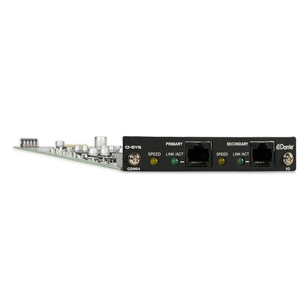 Плата расширения QSC CDN64 плата расширения soundcraft sio dante