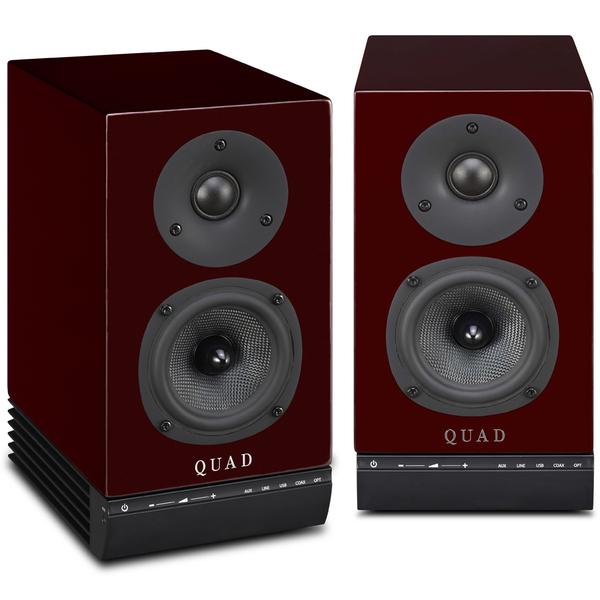 Активная полочная акустика Quad 9AS Red Ruby novel design luxury fashion faux leather mens blue ray glass quartz analog watches p14