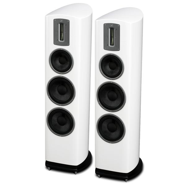 Напольная акустика Quad Z-3 Piano White полочная акустика quad z 1 piano white