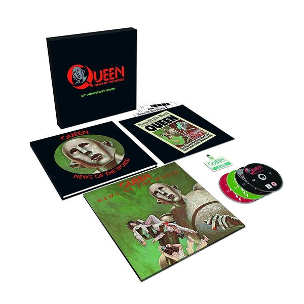 QUEEN QUEEN - News Of The World (40th Anniversary) (lp+3 Cd+dvd) музыка cd dvd celine through the eyes of the world dvd